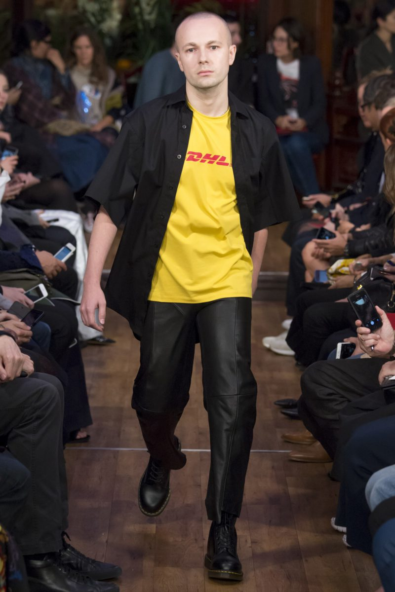Gosha Rubchinskiy DHL Vetements